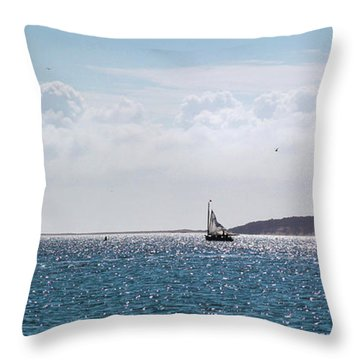 Throw Pillow featuring the photograph Setting Sail by Michelle Wiarda