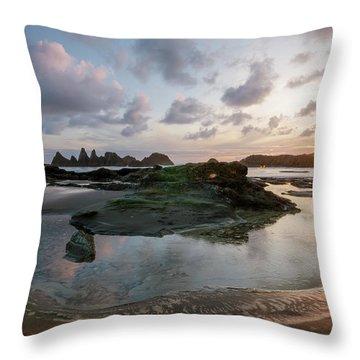 Setting Sun At Seal Rock Throw Pillow