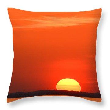 Setting Sun Halibut Pt. Throw Pillow