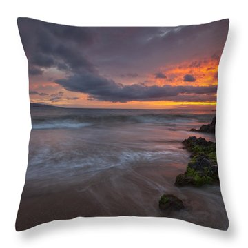 Setting Sun Throw Pillow by James Roemmling