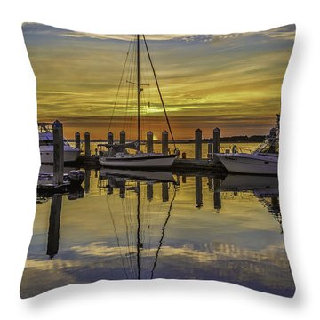 Setting Sun Reflections Throw Pillow