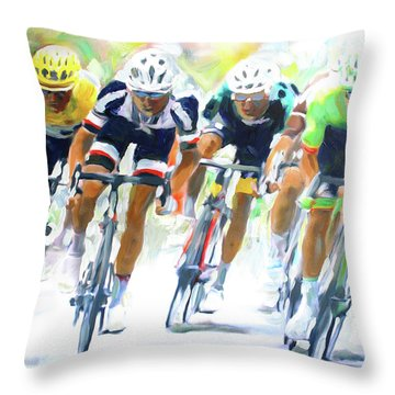 Setting The Pace Throw Pillow