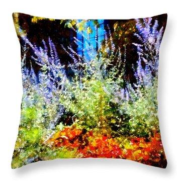 Settlers Inn Garden Reflections Throw Pillow