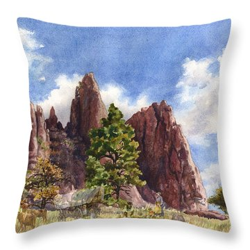 Settler's Park, Boulder, Colorado Throw Pillow