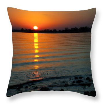 Settling Sun Throw Pillow by Karol Livote