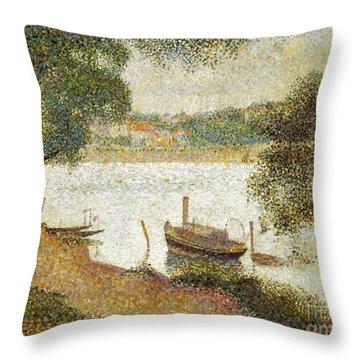 Seurat: Gray Weather Throw Pillow by Granger