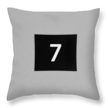 Throw Pillow featuring the photograph Seven by Christi Kraft