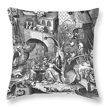 Seven Deadly Sins, 1558 Throw Pillow by Granger