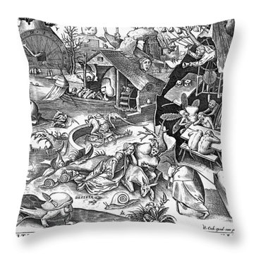 Seven Deadly Sins: Sloth Throw Pillow by Granger