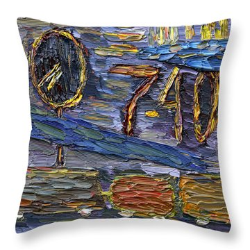 Throw Pillow featuring the painting Seven Forty by Vadim Levin