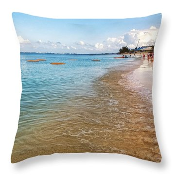 Throw Pillow featuring the photograph Seven Mile Beach by Lars Lentz