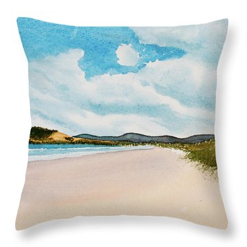 Seven Mile Beach On A Calm, Sunny Day Throw Pillow