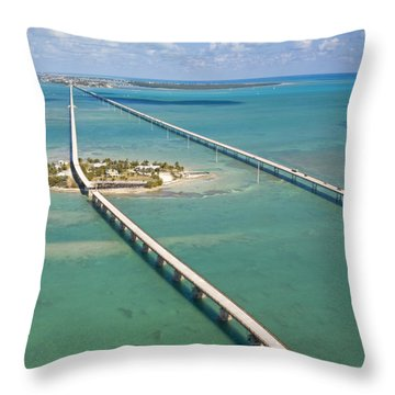 Seven Mile Bridge Crossing Pigeon Key Throw Pillow