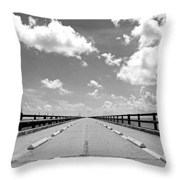 Seven Mile Bridge To Nowhere Throw Pillow