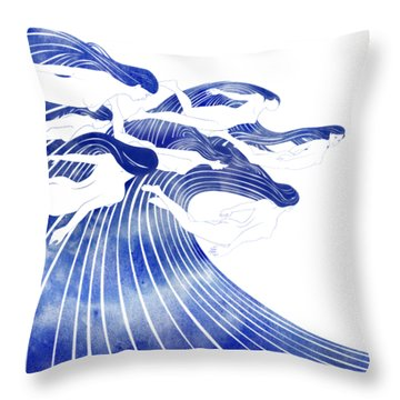 Seven Nereids Throw Pillow