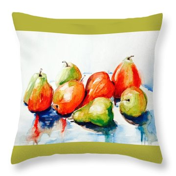 Seven Pear Throw Pillow