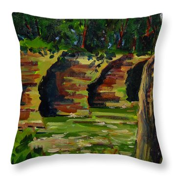 Seven Pillars Second In Series Throw Pillow by Charlie Spear