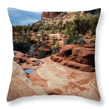 Seven Sacred Pools Throw Pillow