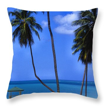 Seven Seas Beach Puerto Rico Throw Pillow by Thomas R Fletcher