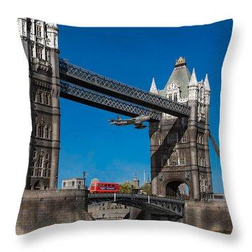 Seven Seconds - The Tower Bridge Hawker Hunter Incident  Throw Pillow