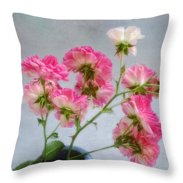 Seven Sisters Roses Throw Pillow