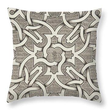 Seventeenth Century Design For Parterre Throw Pillow