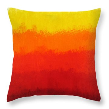 Seventh Throw Pillow by Oliver Johnston
