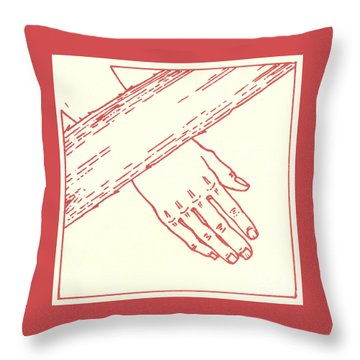 Throw Pillow featuring the drawing Seventh Station- Jesus Falls The Second Time  by William Hart McNichols