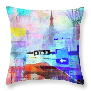 Seventh Street Throw Pillow