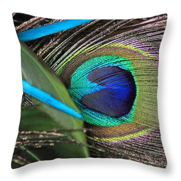 Several Feathers Throw Pillow