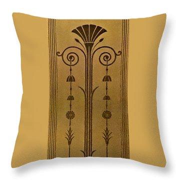 Severance Hall Art Deco Panel Throw Pillow