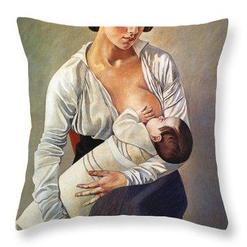 Severini: Maternity, 1916 Throw Pillow by Granger