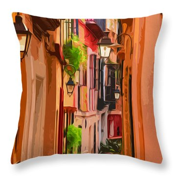 Seville, Colorful Spain Throw Pillow