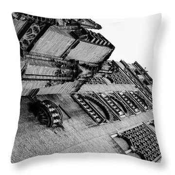 Seville - Giralda In Black And White Throw Pillow by Andrea Mazzocchetti