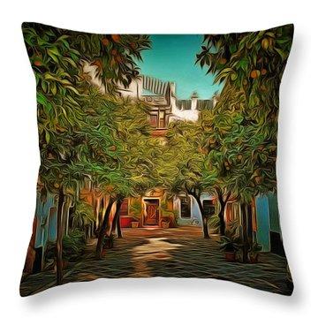 Seville Oranges Throw Pillow by Anton Kalinichev