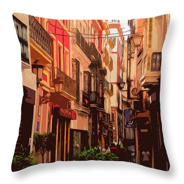 Seville, The Colorful Streets Of Spain - 02 Throw Pillow