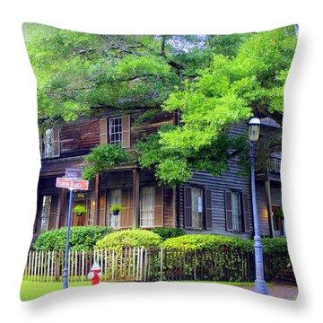 Seville Wooden House Throw Pillow