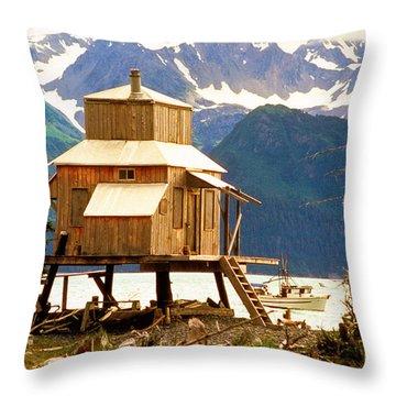 Seward Alaska House Of Stilts Throw Pillow by James BO  Insogna