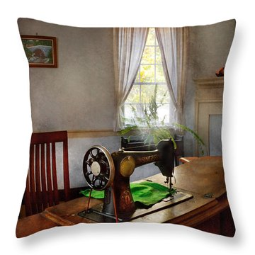 Sewing - My Sewing Room  Throw Pillow by Mike Savad