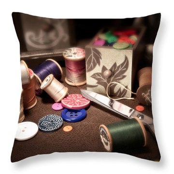 Sewing Notions I Throw Pillow by Tom Mc Nemar