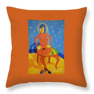 Sex Appeal Of A Dinette Set. Throw Pillow