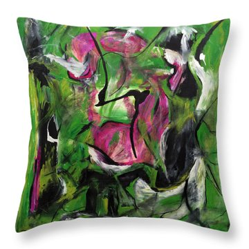 Sexual Energy Throw Pillow by Antonio Ortiz