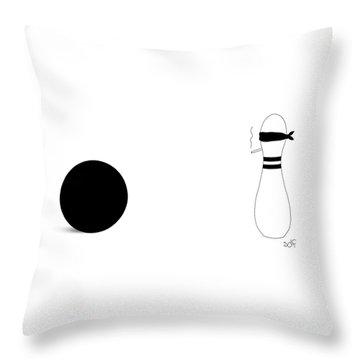 Bowling Execution Throw Pillow