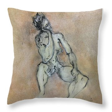 Sexy, Strong, Sleepy Throw Pillow by Antonio Ortiz