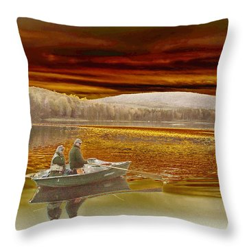 Throw Pillow featuring the photograph Seyon Sunset by Paul Miller