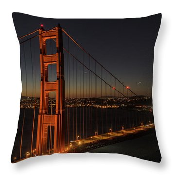 Sf Departure Throw Pillow
