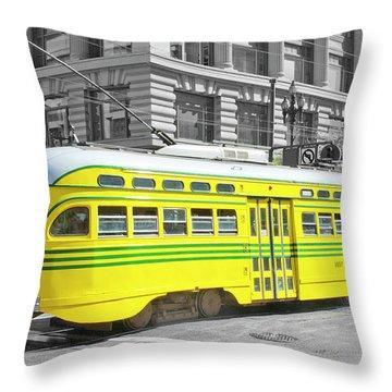 Sf Streetcar Throw Pillow