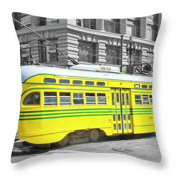 Sf Streetcar Throw Pillow