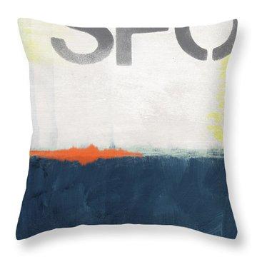 Sfo- Abstract Art Throw Pillow