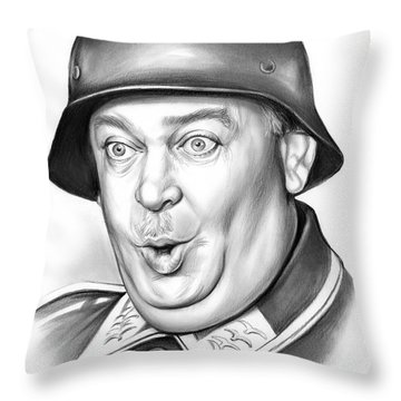 Sgt Schultz Throw Pillow